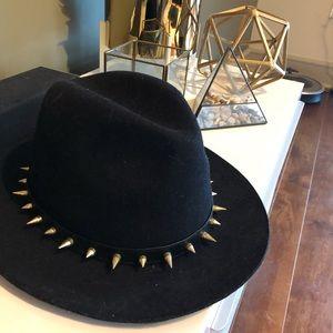 Zara Rivet fedora felt hat